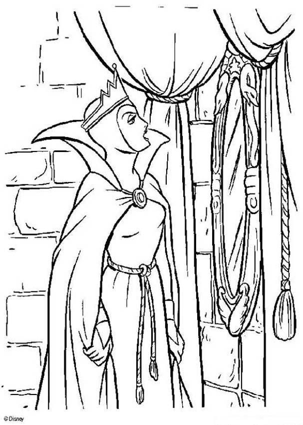 coloring page about snow white disney movie drawing of the witch and the magic mirror coloring page for all the girls who love disney movies