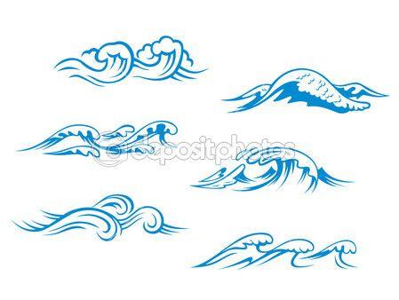 ILUSTRACIONES DE OLAS  Cerca amb Google  el mar  Pinterest