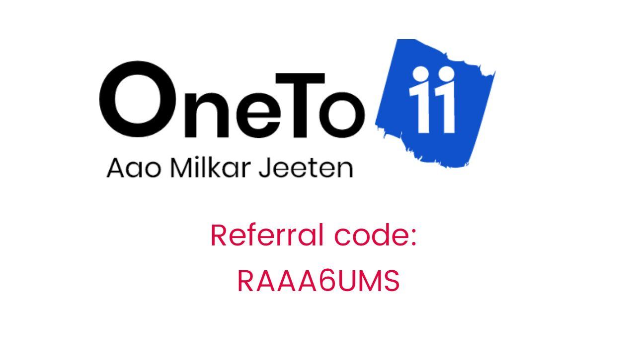 Oneto11 App Referral Code And Earning Tips Get Rs 100 Bonus Earn Free Money Coding Earn More Money