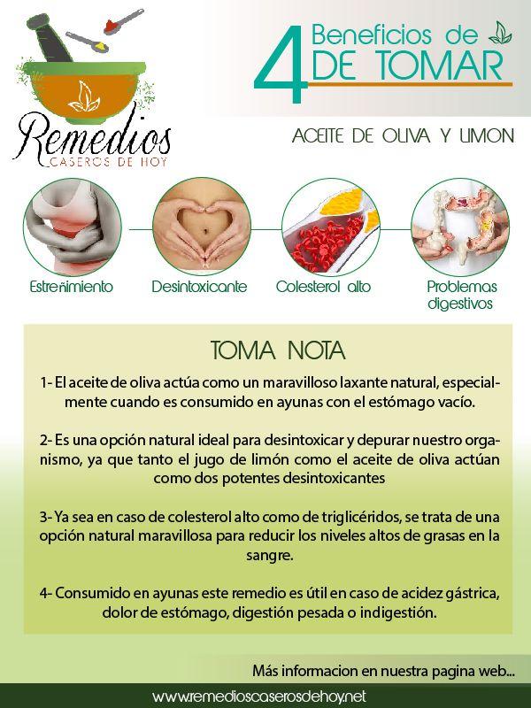Conoce Los Benefios De Tmar Aceite De Oliva Y Limón Remedios Para La Salud Recetas Para La Salud Consejos Para La Salud