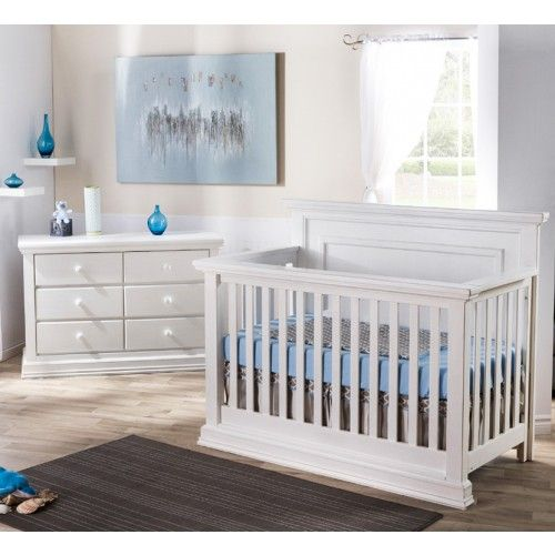 trendy baby furniture. Solid Panel Headboard Crib, Pali Modena Collection In Vintage White Trendy Baby Furniture