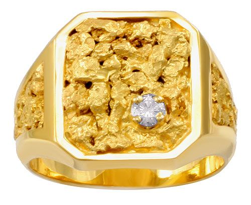 Pendants Gold Nugget Yellow 14 Karat Gold Nugget Pendant