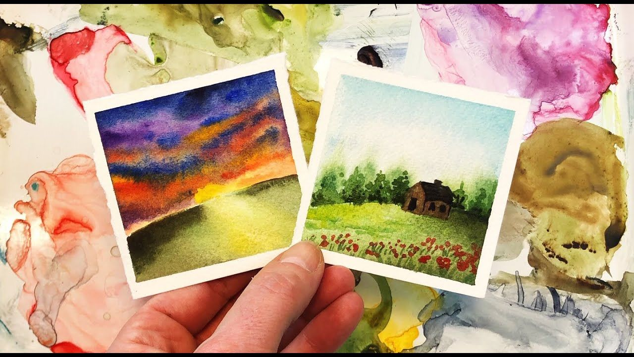 Watercolor Painting Landscape Sunset Mini Monday Madness 23 Step By In 2020 Watercolour Tutorials Watercolor Paintings Tutorials Landscape Paintings
