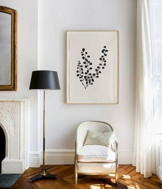 Pressed Mimosa - SMc. Originals, watercolor painting, floral, modern, original artwork, nature decor, black and white art, silhouette,simple #easywatercolorpaintings