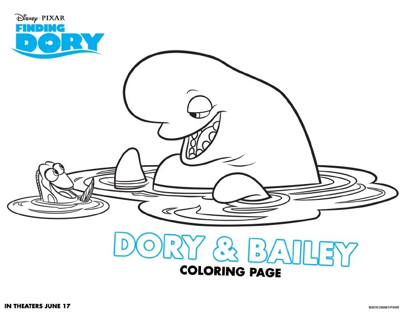 Finding Dory Coloring Page