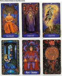 beautiful tarot art | Art Nouveau style tarot