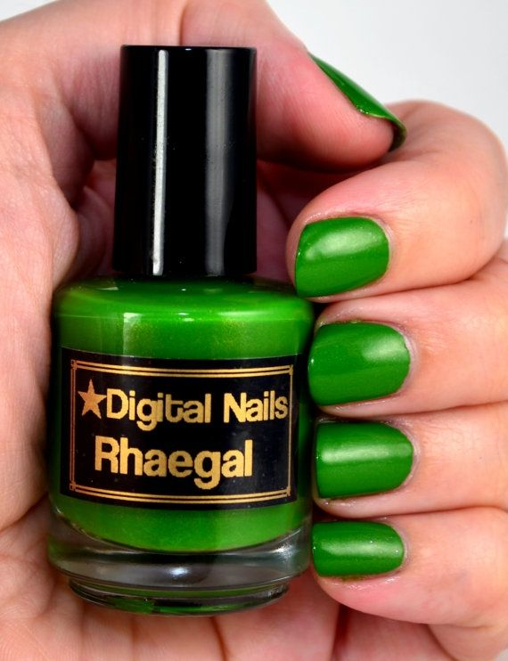 Fotos de uñas color verde - 45 Ejemplos - Green Nails - http://xn ...