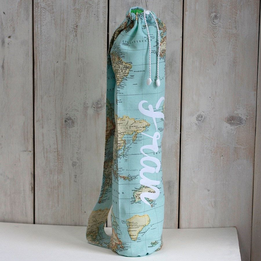 Custom world map yoga mat bag personalised yoga bag gifts for custom world map yoga mat bag personalised yoga bag gifts for yoga lovers yoga sling yoga mat carrier travel gifts travel map gumiabroncs Gallery