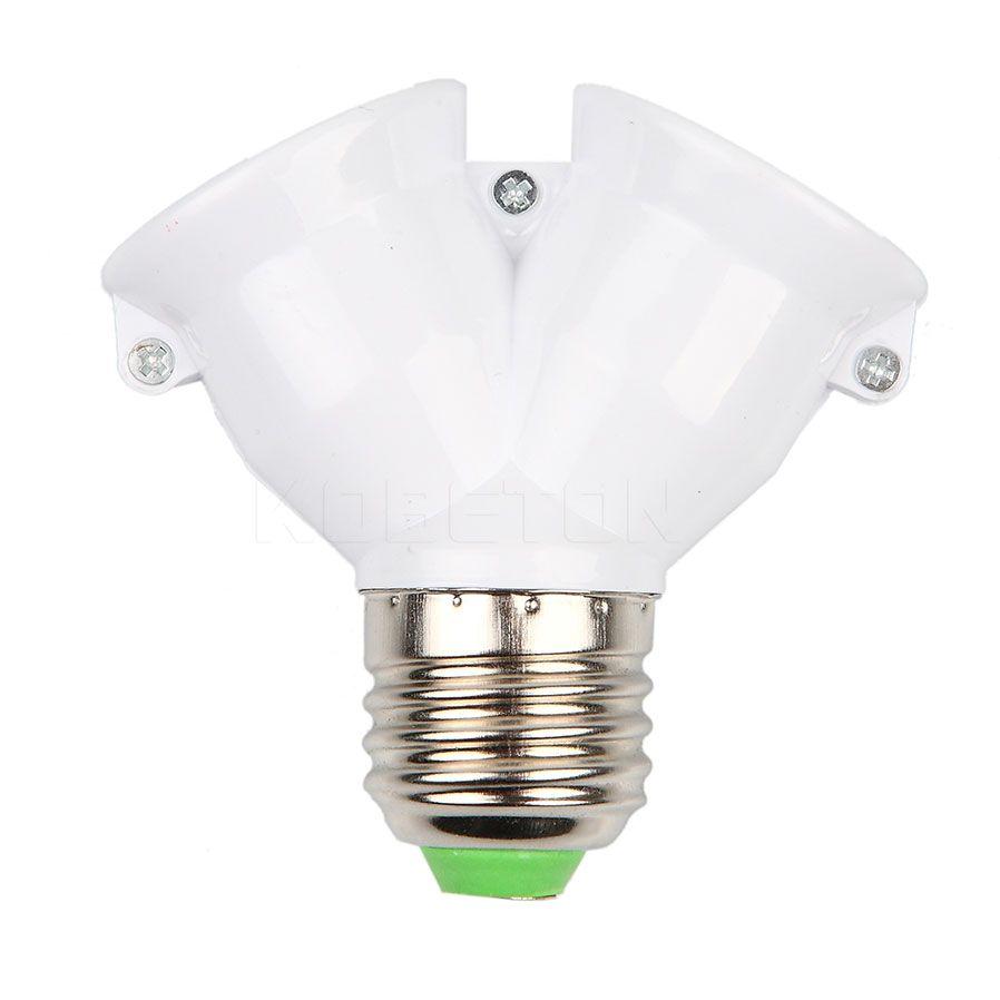 Support De Lampe Ampoule Titulaire Double Double 2x E27 Socket Base Elargir Splitter Plug Halogene Lumiere Lampe De Con Bulb Adapter Led Bulb Light Accessories