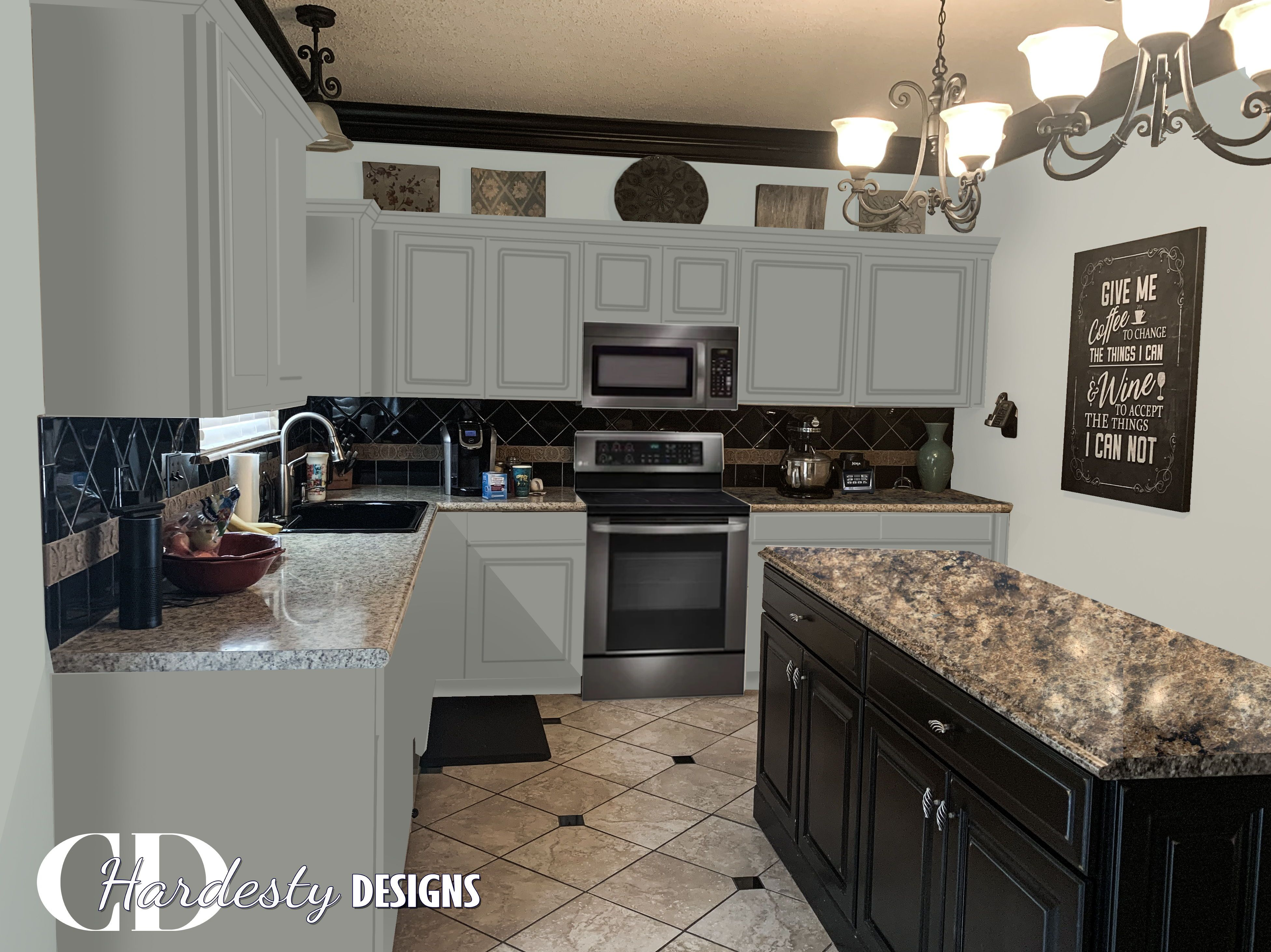 Kitchen Refresh With Sherwin Williams Illusive Green And Silver