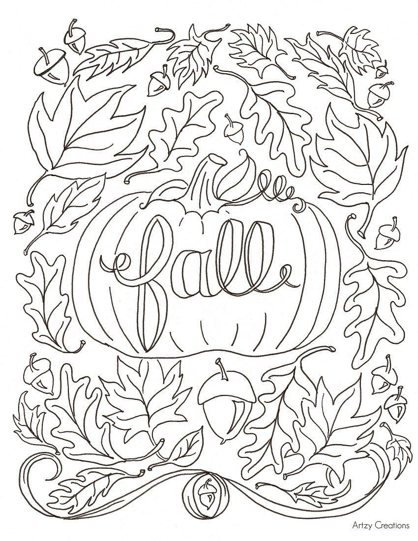 Coloriage d'automne à imprimer gratuitement #coloriage # ...