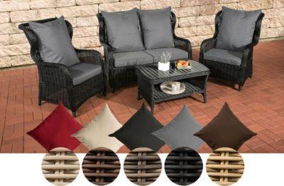 AuBergewohnlich Poly Rattan Garten Lounge Set TOLEDO, 5 Mm RUND Geflecht, ALU Gestell