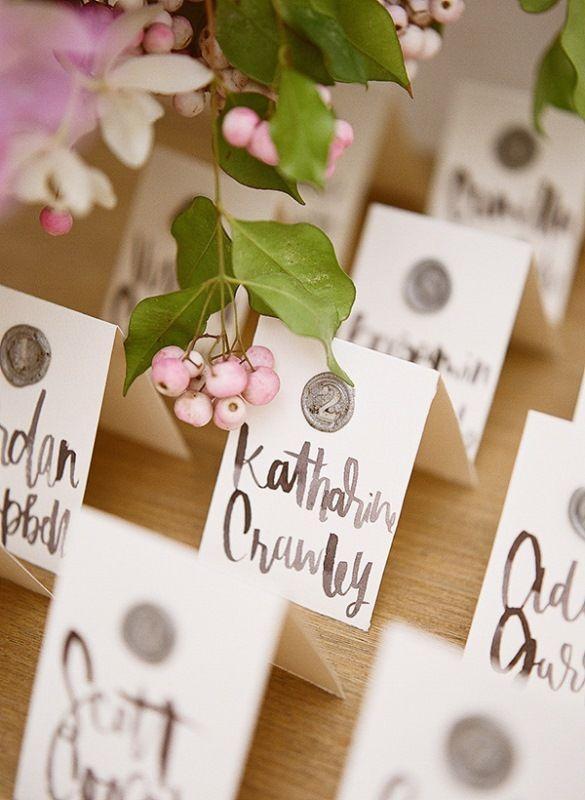 Classy DIY Wax Seal Wedding Escort Cards Blush Weddings