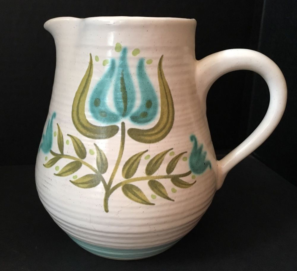 Vintage Franciscan Earthenware Tulip Time 40 Ounce Pitcher Mid ...