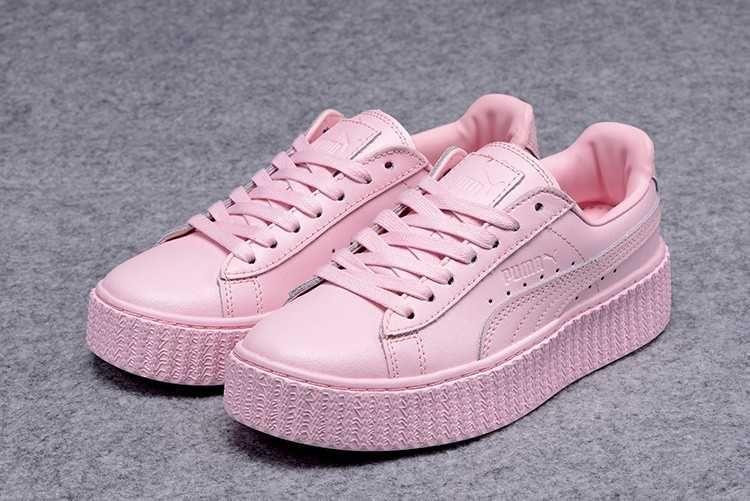 puma creepers rosa palo