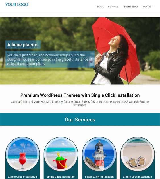 This free responsive business WordPress theme includes a one page ...