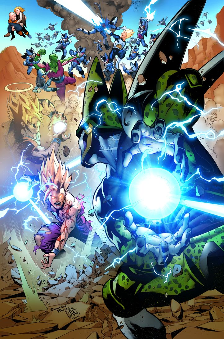 Gohan Vs Cell By Teodoro Gonzalez Anime Pinterest Dbz