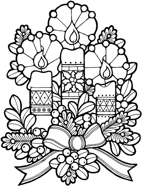 Christmas Candles Coloring Pages Christmas Coloring Sheets Christmas Coloring Books Printable Christmas Coloring Pages