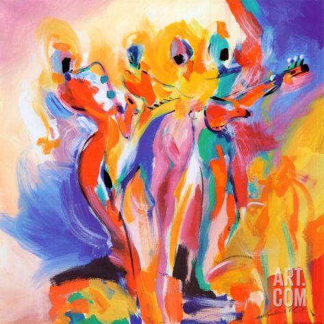 Jazz Explosion Ii Art Print By Alfred Gockel At Art Com Painting Alfred Gockel Art Print Display