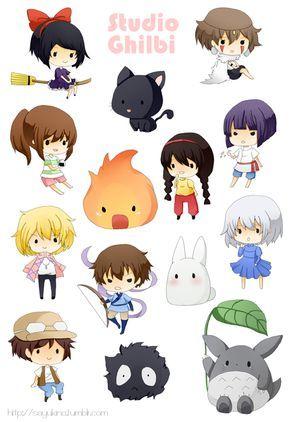 Stickers Studio Ghibli ちびキャラ イラスト かわいいイラスト トトロ