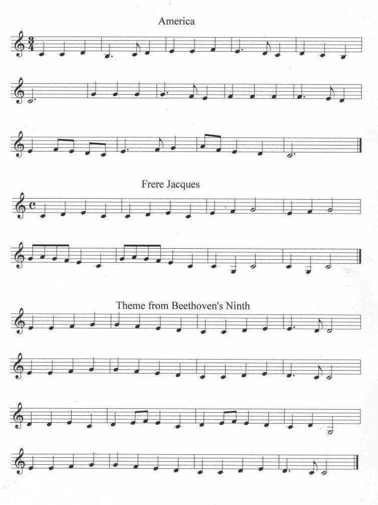 Easy songs page 13