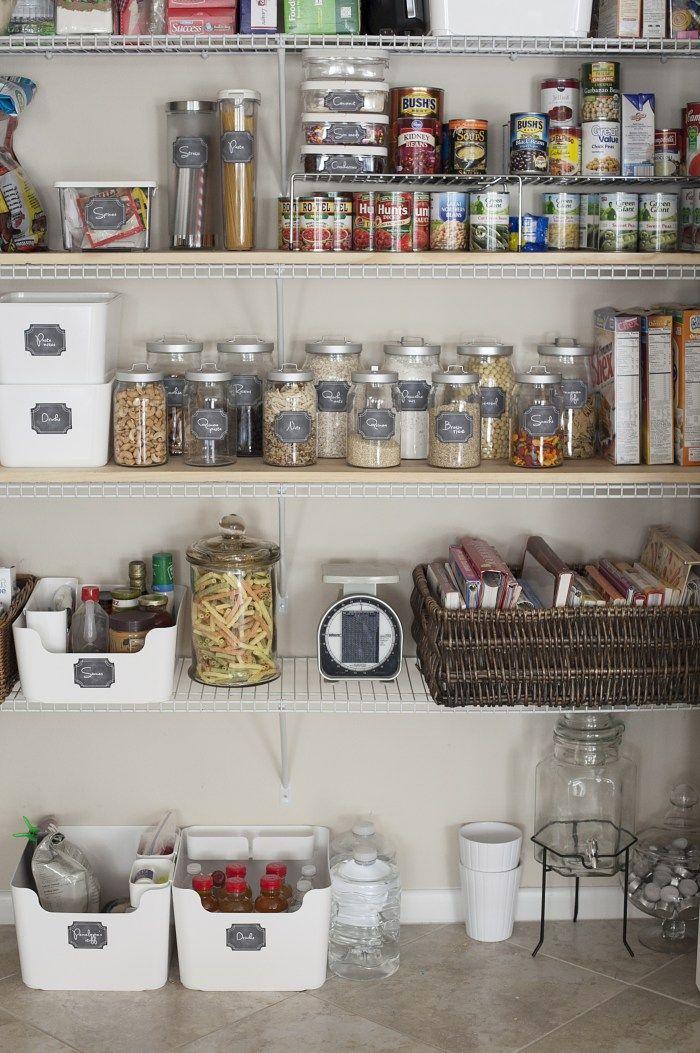 Kitchen Pantry Organization on a Dime + Free Printable Labels