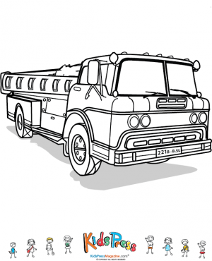 Fire Truck Coloring Page | Truck coloring pages, Fire ...