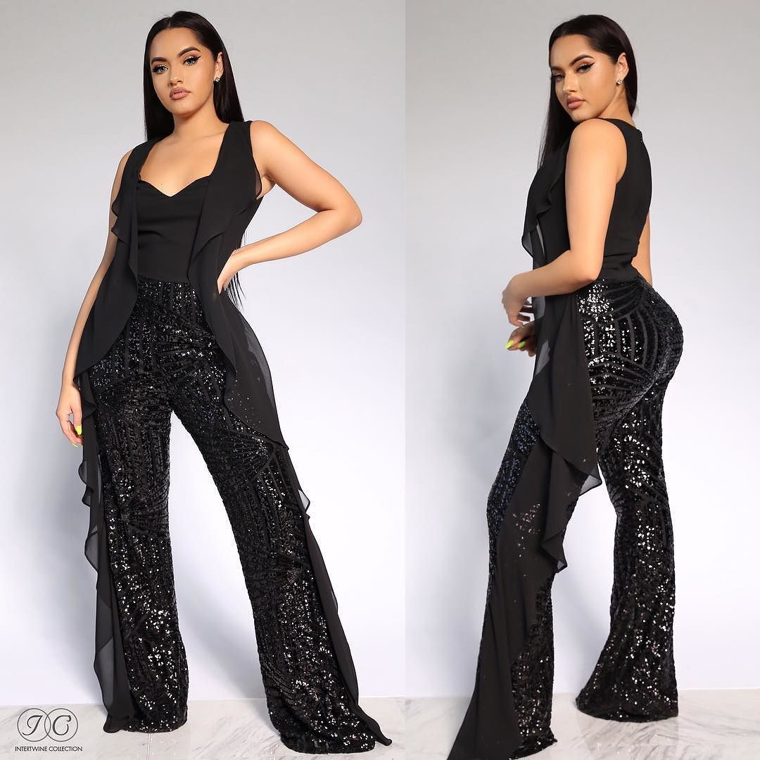 193e026c900 1 MEDIUM LEFT TAKE 25% OFF  SLAY THE RUNWAY JUMPSUIT - SEQUINS  THIS IS  DEFINITELY OUR ULTIMATE FAVORITE! Available…