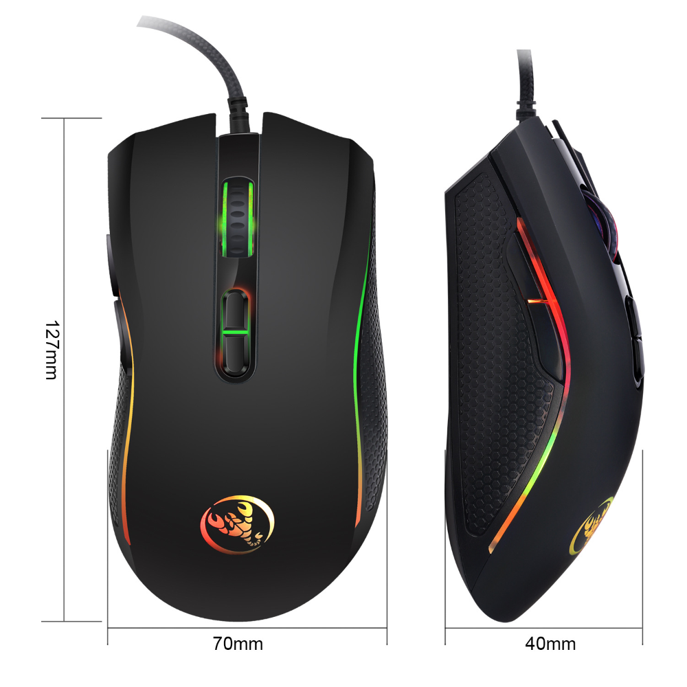Hongsund Brand High End Optical Professional Gaming Mouse With 7 Bright Colors Led Backlit And Ergonomics Desi Gaming Mouse Gaming Computer Professional Gaming