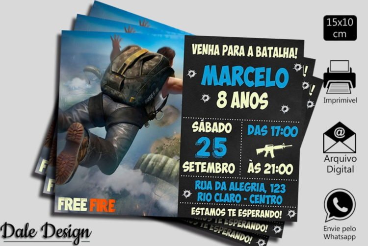 49 IDEIAS PARA FESTA FREE FIRE - VENHA CONFERIR!