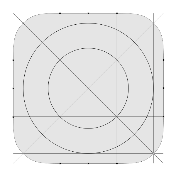 The Golden Ratio Grid That I M Using For My Shape Ios 7 App Icon Design Ios 7 Icons