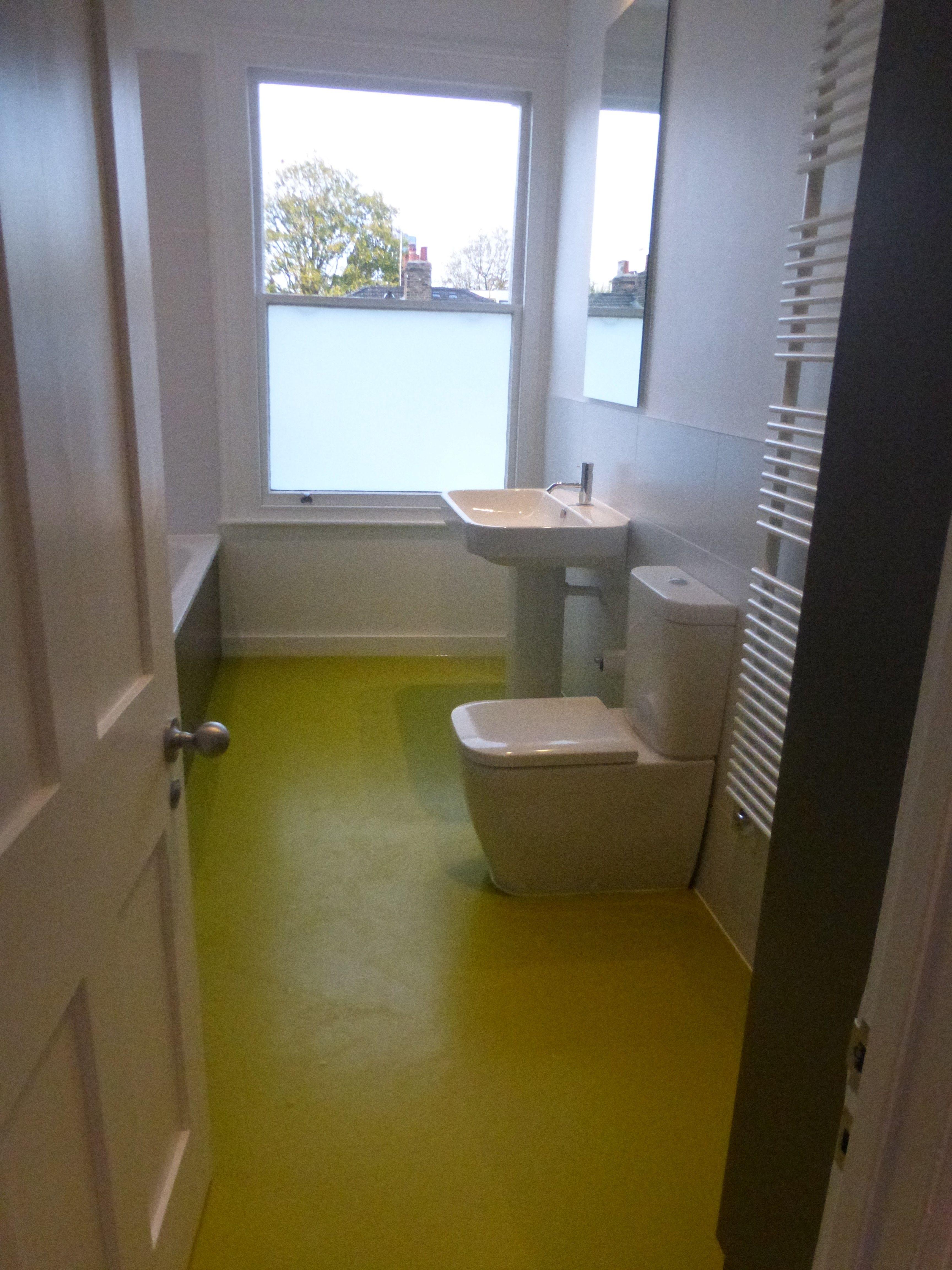Butterfield Green Bathroom rubber flooring bright