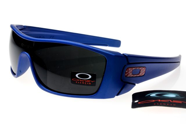 Oakley Fuel Cell Sunglasses Deep Blue Frame Black Lens 0458
