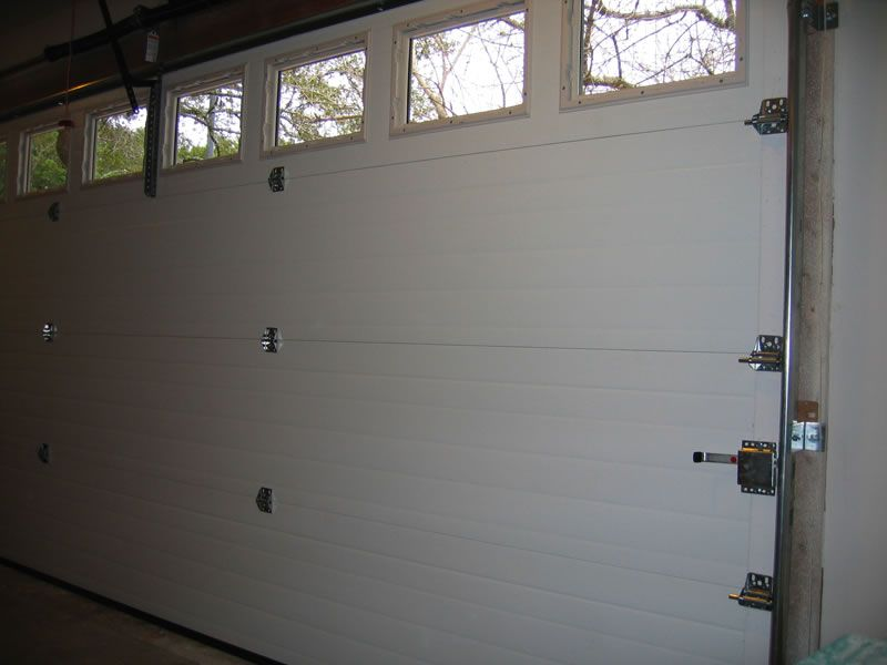 Contemporary Flush Steel Garage Door