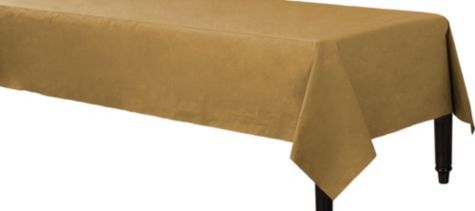 Gold Paper Table Cover Party City Marine Graduation