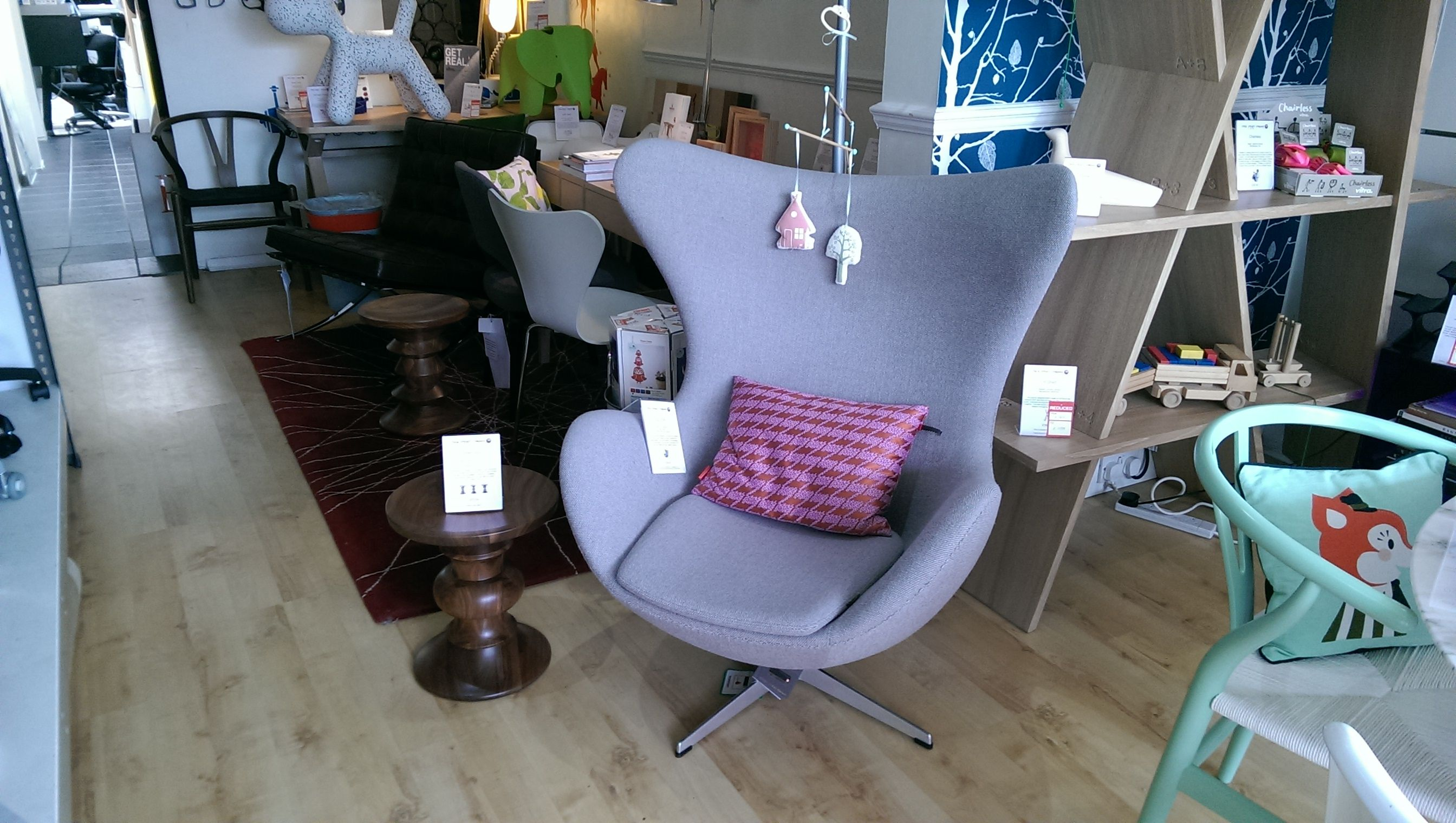 Arne Jacobsen Egg Chair In Grey Hallingdal Vitra Maharam