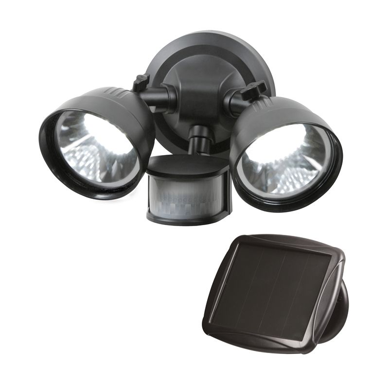 Light Solar Security S Magic 36led Twin Head Blk Snsr Sm21