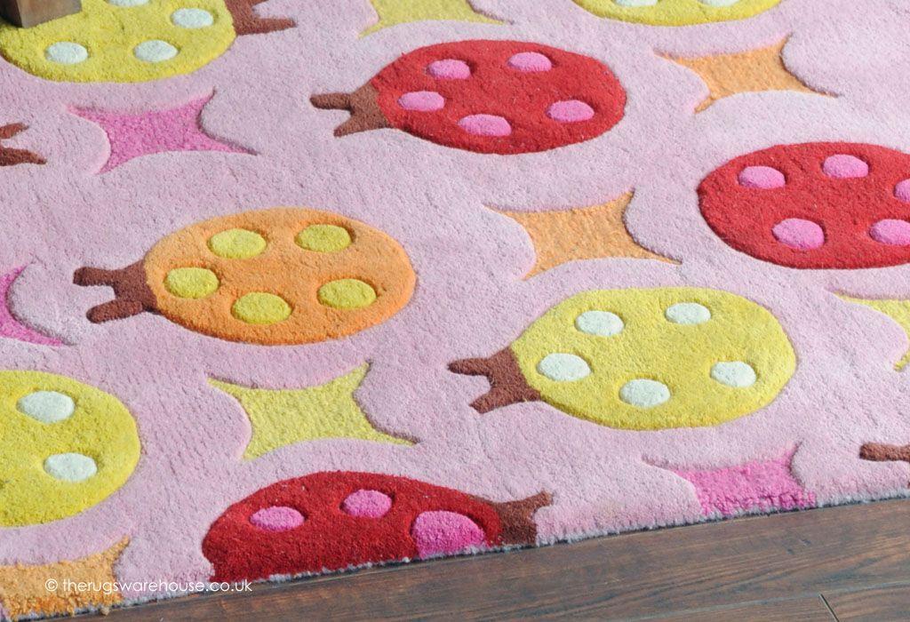 Beetles Rug Texture Close Up A Fun Ladybird Themed Children S Hand