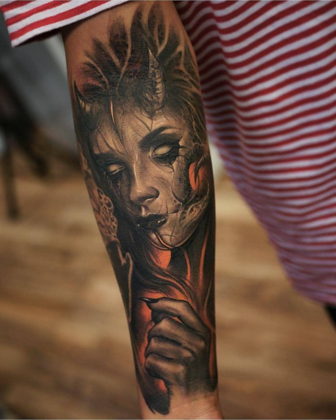 Tattoo Realistic Tattoorealistic Instagram Posts Videos Stories Picoji Super Dark Pieces By Brandon Herrera Tattoo Artists Tattoos Portrait Tattoo