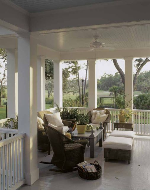 Pretty Front Porches Southern Charm This Repin Is