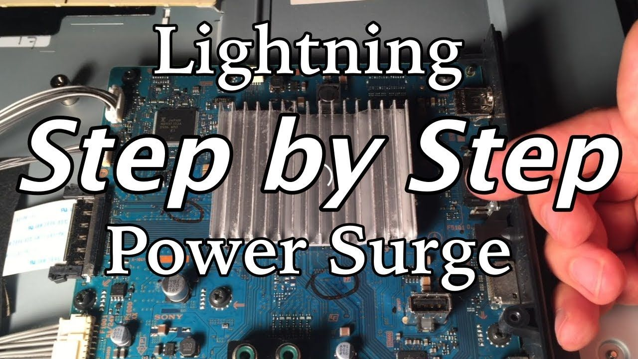 How to fix a tv hit by lightning or power surge youtube