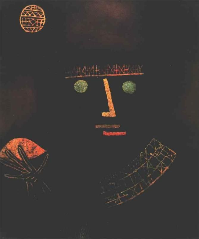 """Black Knight"" - Paul Klee, 1927. Oil on canvas."
