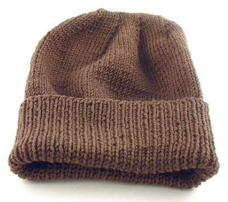 Simple Knit Hat Pattern Free : Knitted Hat Patterns on Pinterest Knitted Headband Pattern, Free Knitting a...