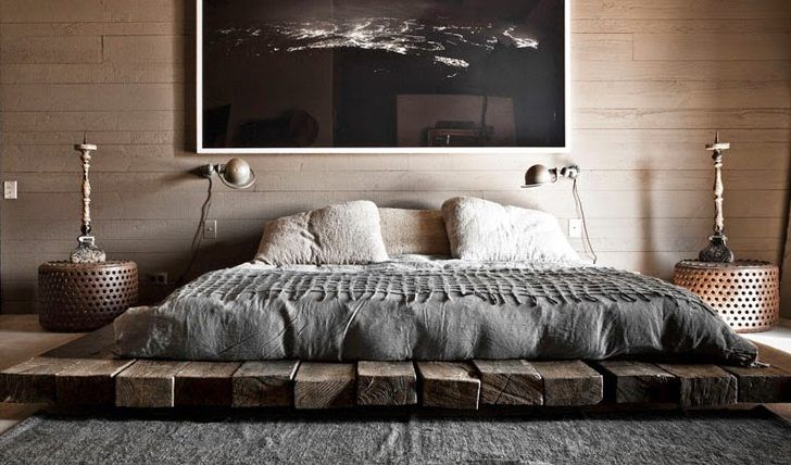 bett selber bauen f r ein individuelles schlafzimmer design diy bett aus holzbrettern. Black Bedroom Furniture Sets. Home Design Ideas