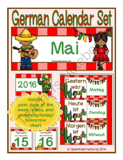German+Calendar+Set+for+May+-+fiesta+theme+from+Open+Wide+the+World+