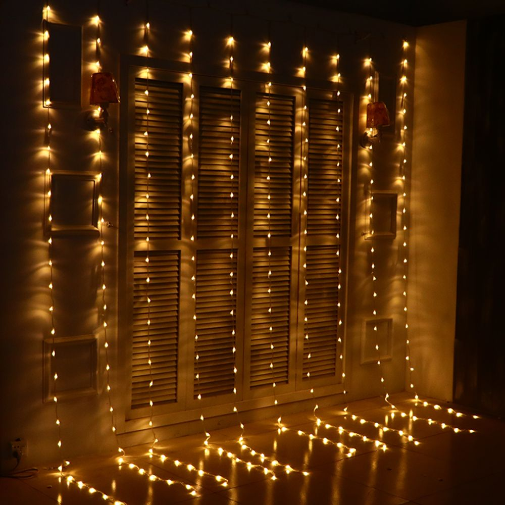 3 3m 280 Bulbs Led Christmas Lights Outdoor Waterfall Curtain Lights Garland New Year Weddi Holiday Lights Outdoor Holiday Light Decorations Christmas Lights