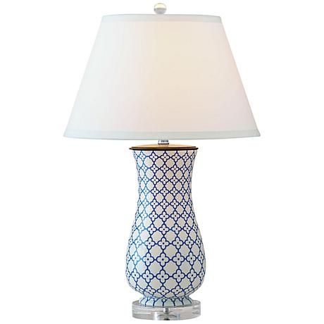 Port 68 Clover Hand Painted Porcelain Table Lamp 8g030 Lamps Plus Lamp Table Lamp Hand Painted Porcelain