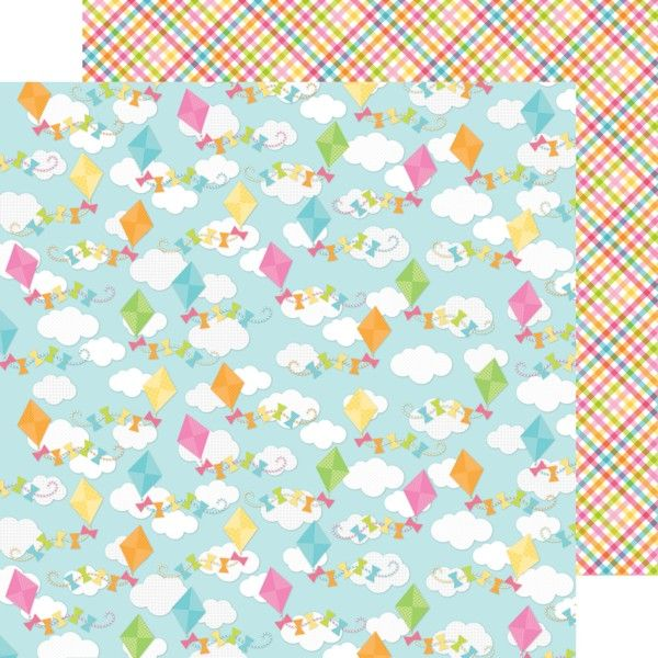 Springtime Collection by Doodlebug - Item:4129  colorful kites double-sided cardstock