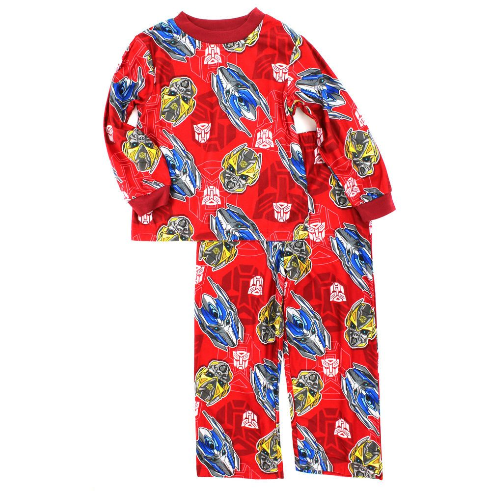 Transformers Boys Red Flannel Pajamas T4025BLL XS S M L 4/5 6/7 8 ...