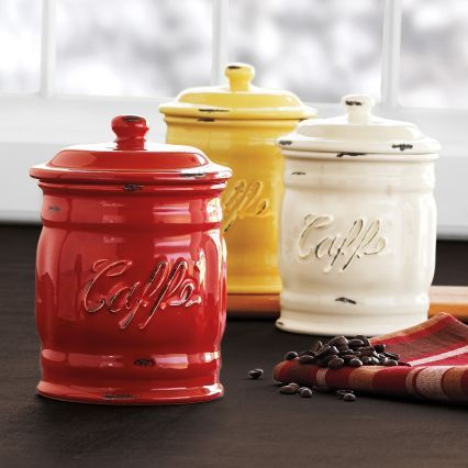 Italian Ceramic Coffee Canisters Sur La Table Canisters